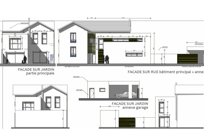 Extension maison année 30 - PROJET