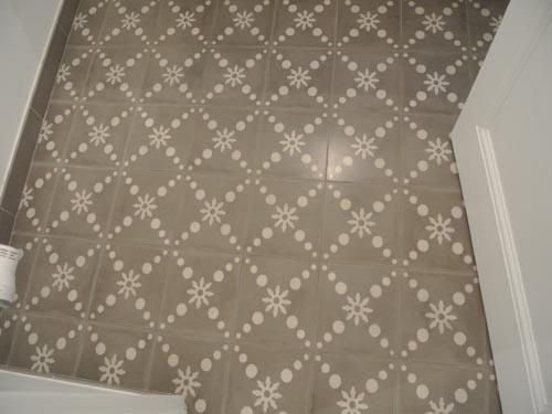 Carreaux de ciment salle de bains et wc