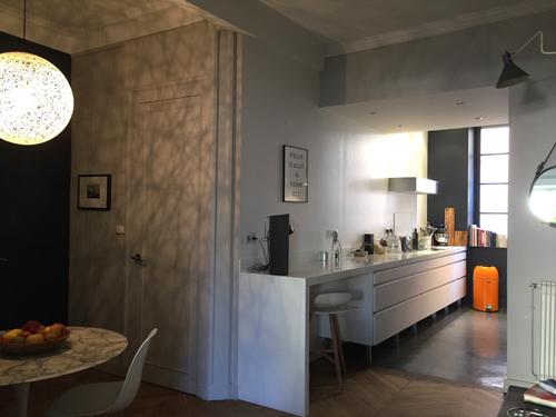 Cusine aménagée et salle à manger